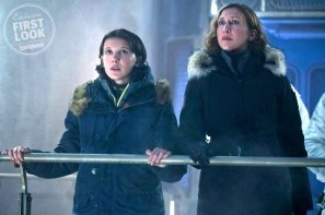 GODZILLA: KING OF THE MONSTERS (L-R) MILLIE BOBBY BROWN as Madison Russell and VERA FARMIGA as Dr. Emma Russell